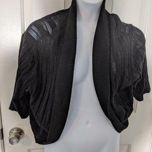 Torrid Black Sweater Shrug - Size 3